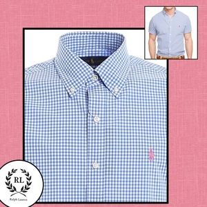 2FOR$30 Short Sleeve Gingham Button Down Casual Shirt
